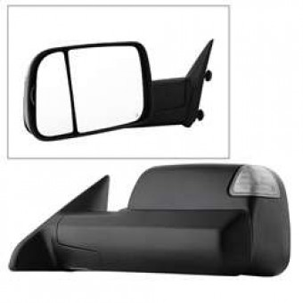 POWER Heated Adjust Mirror with LED Signal Black Housing - LEFT