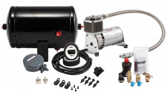 130 PSI sealed air system with 1.0 gallon air tank