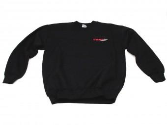 Sweatshirt, Black COMP Crewnec