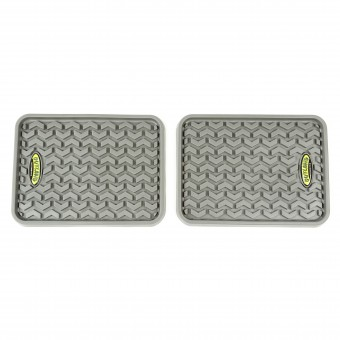 Floor Liners, Rear, Gray, Pair