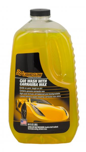 Liquid car wash with carnauba wax