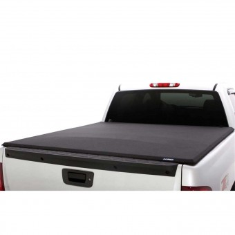 Lund 958515 Genesis Elite Tri-Fold Tonneau for 2007-2013 Toyota Tundra, Includes Utility Track Adapter Kit , Fits 8.0 Ft. Bed