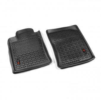 Floor Liners, Front, Black; 10-13 Toyota 4Runner