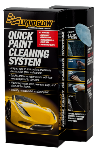 Easy-to-use system that effortlessly cleans paint, glass and chrome.