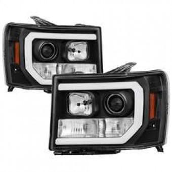 Version 2 Projector Headlights - Light Bar DRL LED - Black