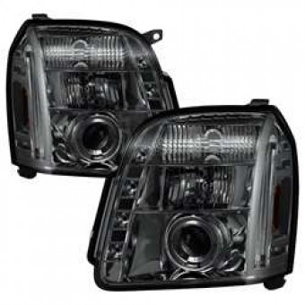 Projector Headlights - LED Halo - LED - Smoke - High H1 - Low H1