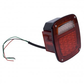 LED Tail Light Assembly, Left Side; 76-06 Jeep CJ/Wrangler YJ/TJ
