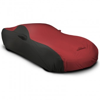 CUSTOM VEHICLE COVER STORMPROOF (TM) 2-TONE BLACK SIDES RED CENTER CLASS 1, Hond