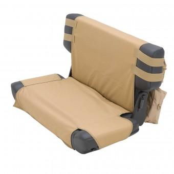 Smittybilt GEAR SEAT COVER - REAR - COYOTE TAN JEEP, 76-06 CJ & WRANGLER (YJ/TJ/LJ) 5660224