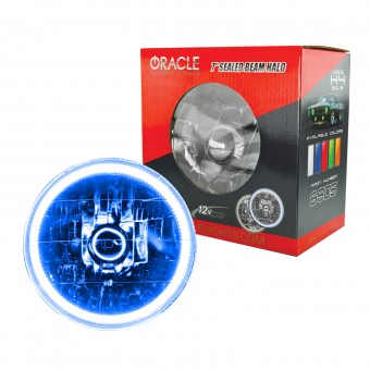 Pre-Installed Lights 7 in. Sealed Beam, Blue