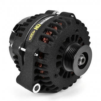 Wrinkle Black HD High Output Alternator 2007.5-2010 GM 6.6L Duramax LMM XD351 XDP