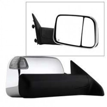 POWER Heated Adjust Mirror with LED Signal Chrome Housing - RIGHT