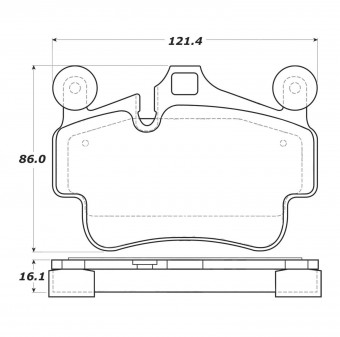 StopTech Street Brake Pads; Front, Rear with Shims