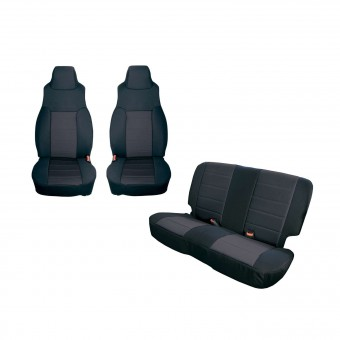 Seat Cover Kit, Black; 97-02 Jeep Wrangler TJ
