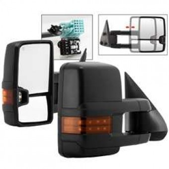 G2 Power Heated Amber LED Signal Telescoping Mirror - SET