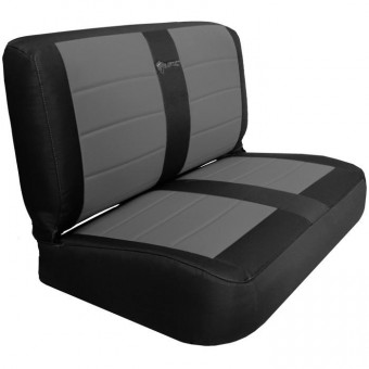 Jeep YJ Seat Covers Rear Bench 87-95 Wrangler YJ Mil-Spec Black/Graphite Bartact